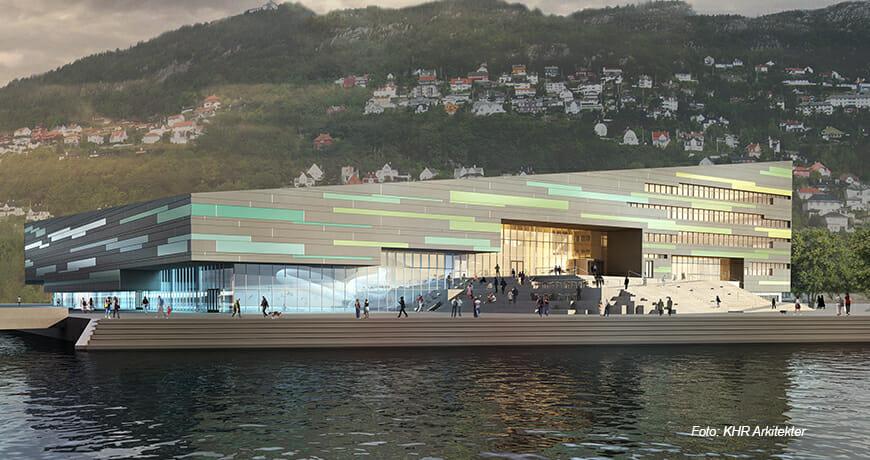 AdO Arena og Amalie Skram Gymnasium